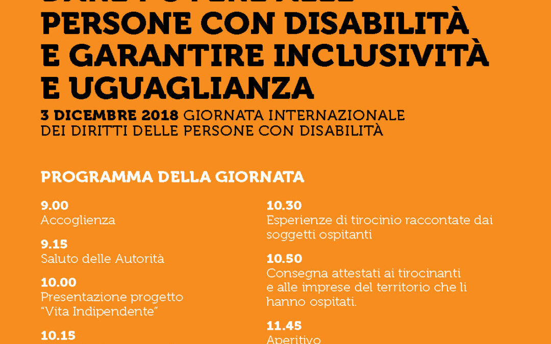 Giornata Internazionale dei diritti delle persone disabili
